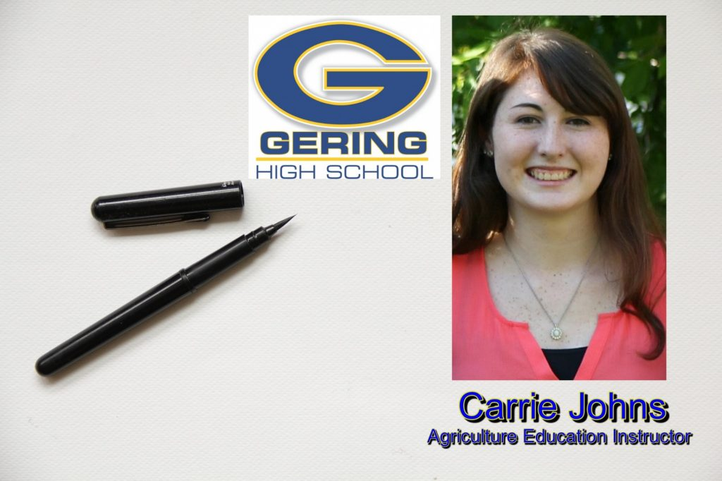 Carrie Johns Selected As GHS Ag Education Instructor