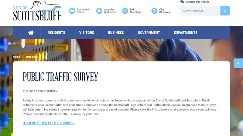 City, Scottsbluff Schools Seeking Public Input as Part of SHS, BMS Traffic Study