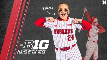 Edwards Named Co-Big Ten Player of the Week