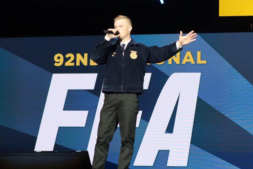 FFA Member Dedicates Song to Organization