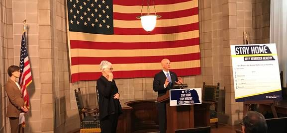 "Gov. Ricketts Proclaims ""21 Days to Stay Home and Stay Healthy"" & Unveils Six Rules to Keep Nebraska Healthy"