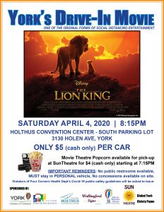 Drive Inn movie to be shown this Saturday at Holthus Convetion Center in York