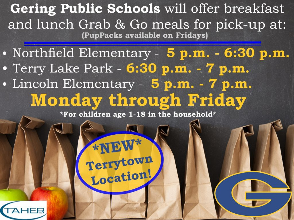 Gering Schools Adding Terrytown Grab-n-Go Lunch Pick Up