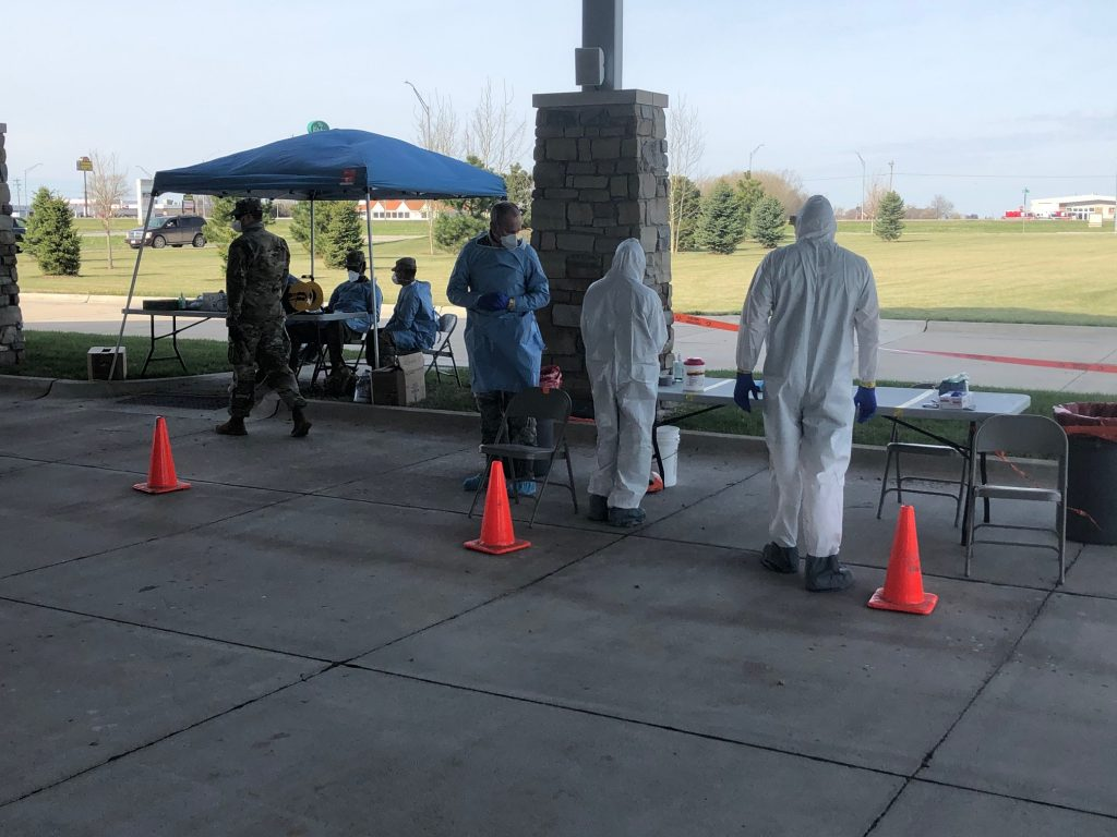 Nebraska National Guard Tests 89 people for COVID-19 in York