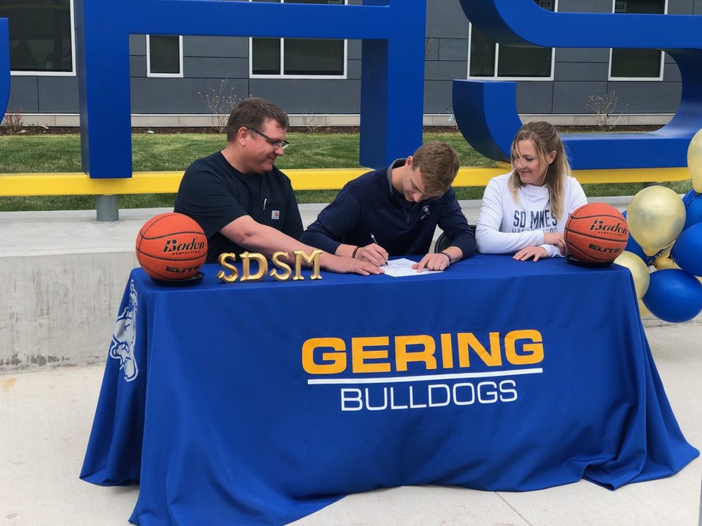 (Audio) Gering's Sherrell signs to play basketball at SD School of Mines