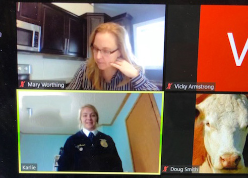 FFA students talk it up virtually