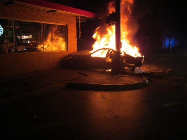 North Platte Pursuit Leads to Fiery Crash