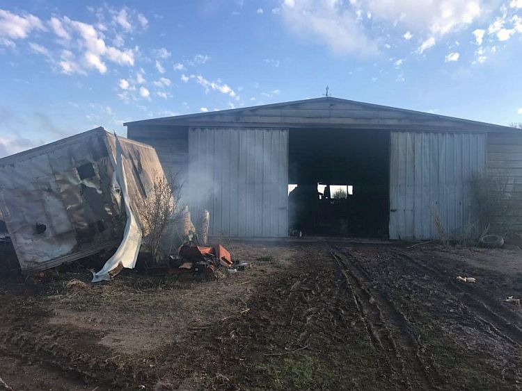 Several fire departments responded to southwest Gosper Co Friday
