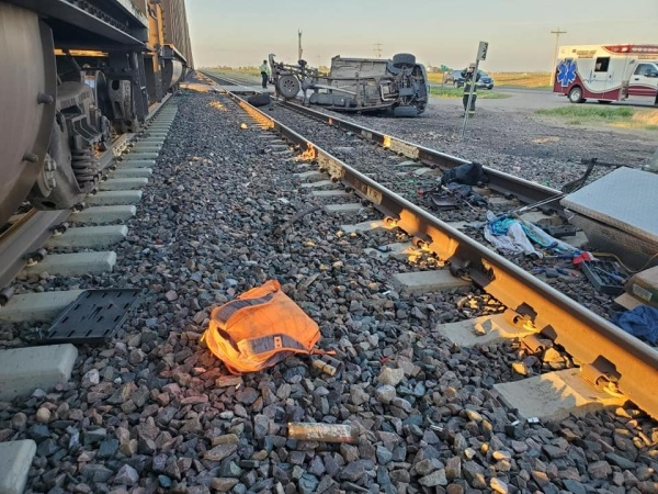 Merrick County vehicle-train crash, no injuries