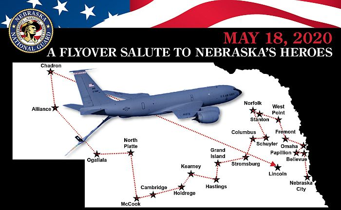 Rescheduled Natl Guard flyover salute planned for Monday May 18th!