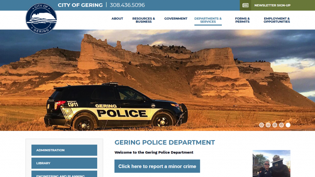 Gering Residents Can Now Report Some Criminal Activity, Other Offenses Online
