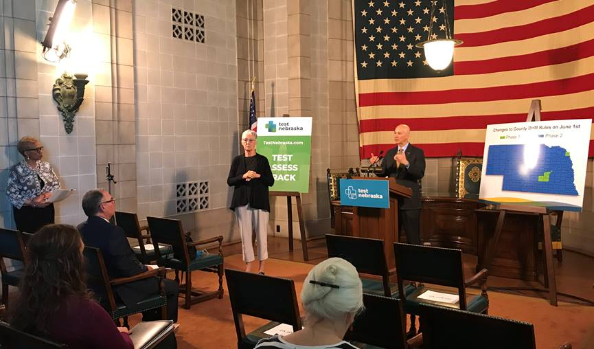 Gov. Ricketts, DHHS CEO Smith Present Demographic Data on Coronavirus Disease