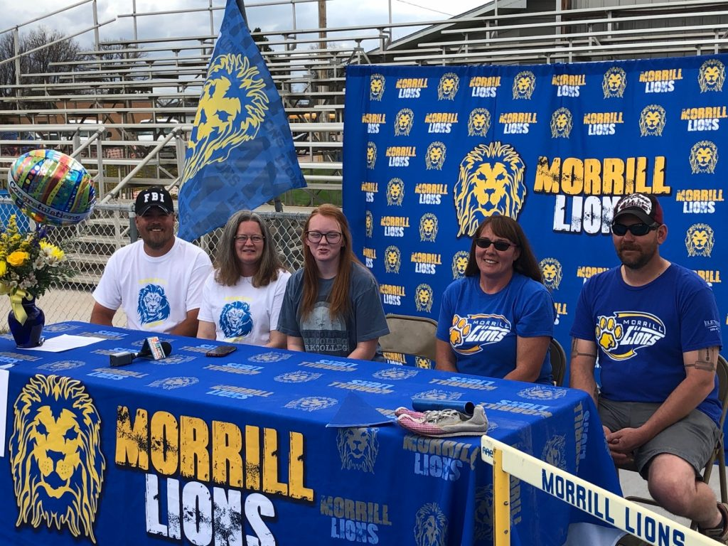 (Listen) Morrill's Alyssa Shaw signs with York College for Track and Field