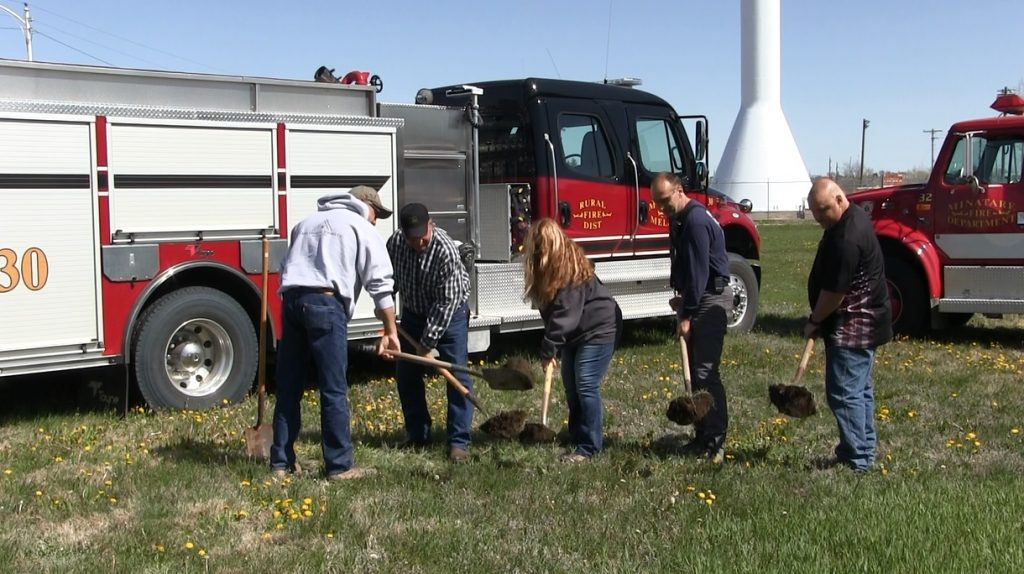 Ground Broken Thursday For New Minatare Fire Station