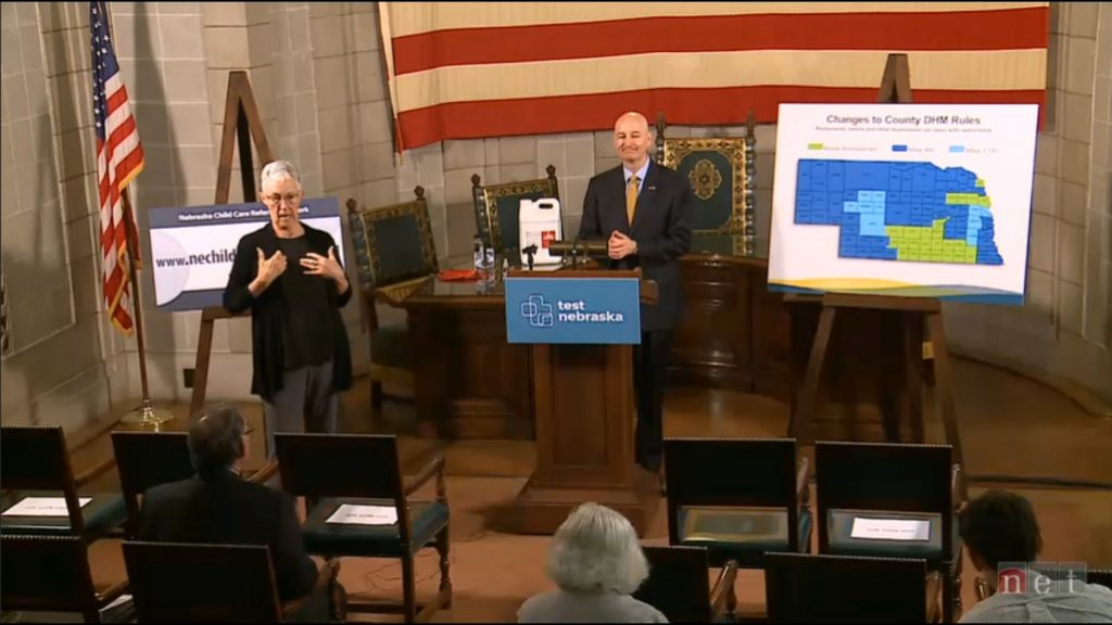 Ricketts Provides Monday Update to Nebraska's Response to COVID-19