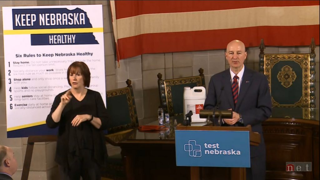 Ricketts Provides Tuesday Update to State's Response to COVID-19