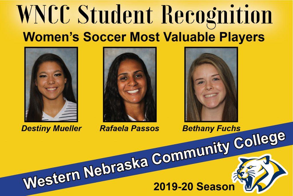 Mueller, Fuchs, Passos named WNCC women's soccer MVPs