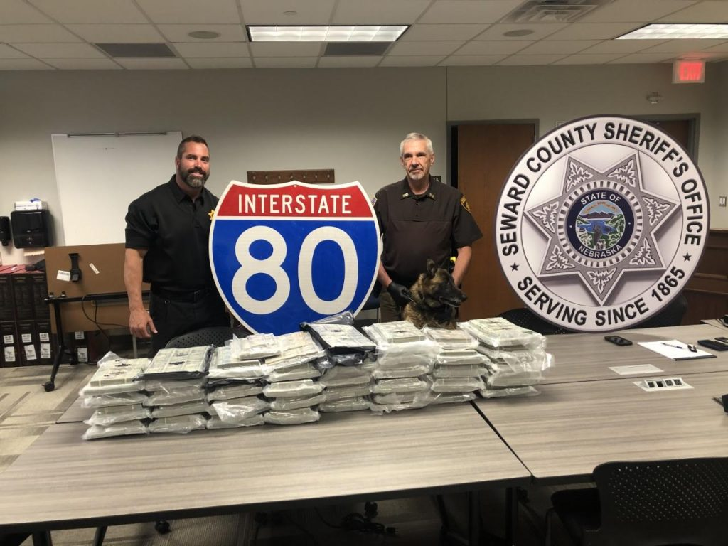 Traffic Stop on I-80 in Seward County Results in Seizure of $1.9 Million