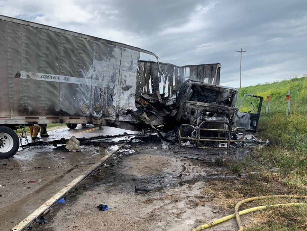 Three Injured in Crash that Leaves Fireworks Exploding Inside Trailer