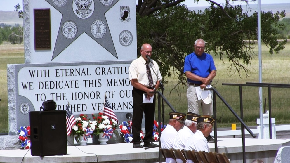 Veterans' Memorial Dedicated At Oregon Trail Memorial Cemetery