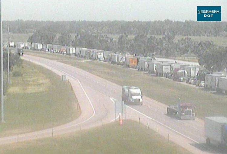 I-80 Eastbound slowly opens at Cozad