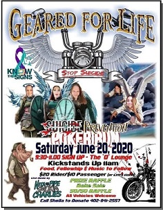 (AUDIO) Geared for Life Suicide Prevention Poker Run to be held Fathers Day Weekend