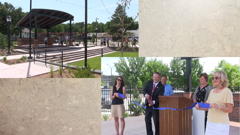 Ribbon Cut Wednesday for Gering Downtown Civic Plaza Stage