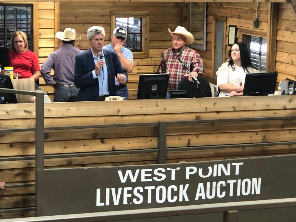 Congressman Fortenberry Visits West Point Livestock