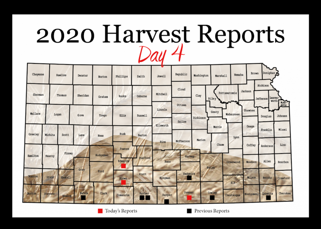 Day 4, Kansas Wheat Harvest Report