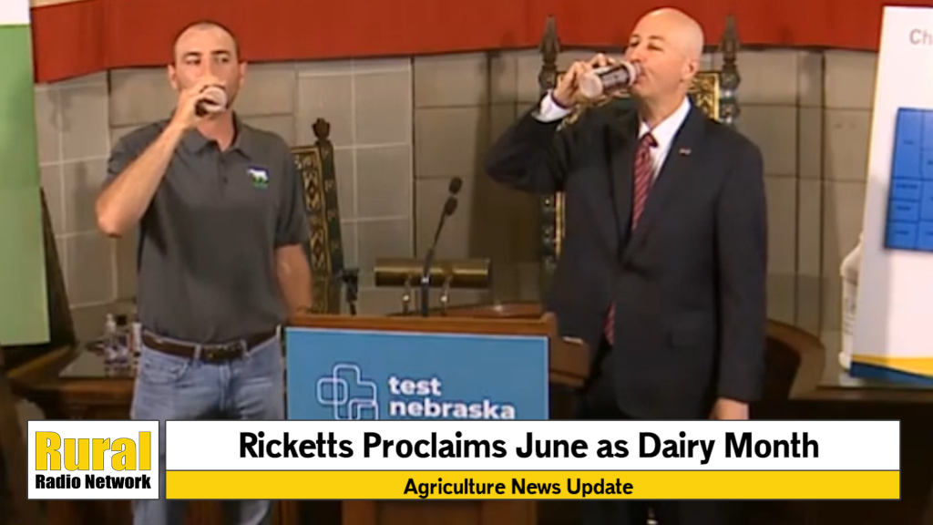 """VIDEO: Ricketts proclaims """"Dairy Month"""" in Nebraska 