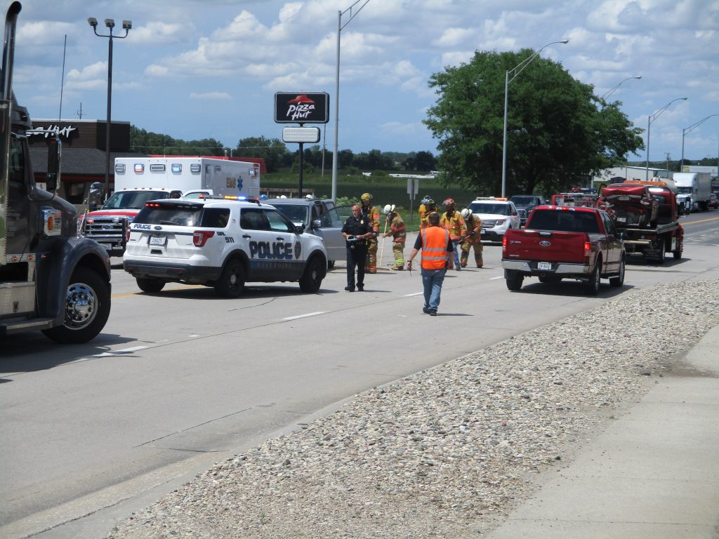 Three-vehicle accident along Highway 275 in West Point