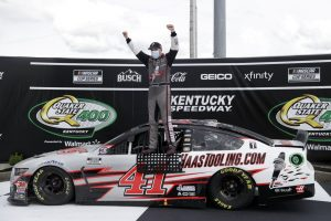NASCAR Cup rookie Cole Custer wins in upset at Kentucky