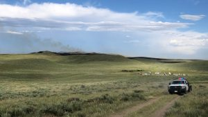 300 Acre Grassfire in Sioux County Contained Early Tuesday Evening