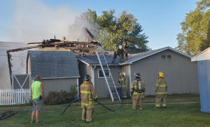 (AUDIO) Johnson Lake home burns in early morning fire