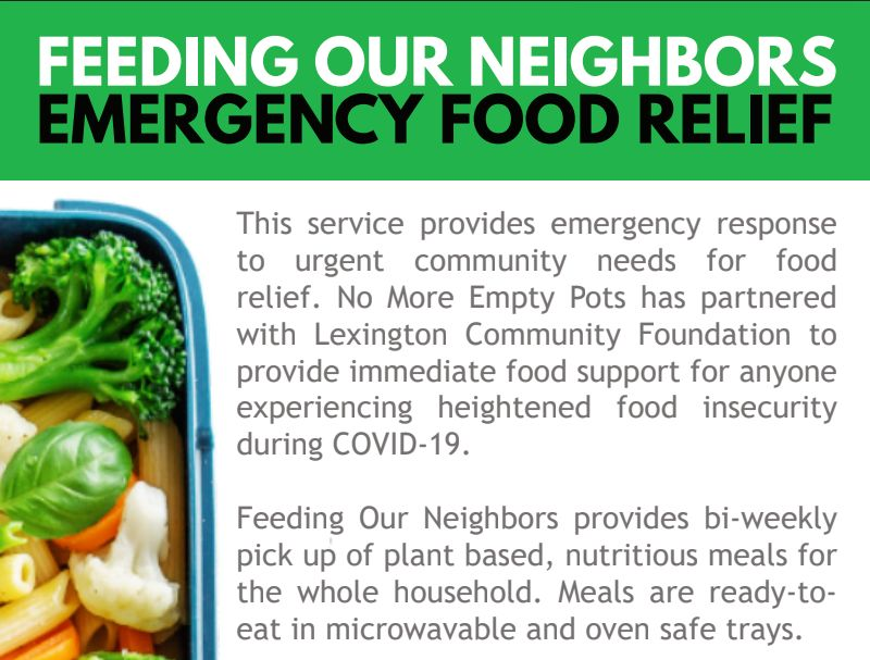 Feeding Our Neighbors Food Program Added to Lexington's USDA Food Box Program