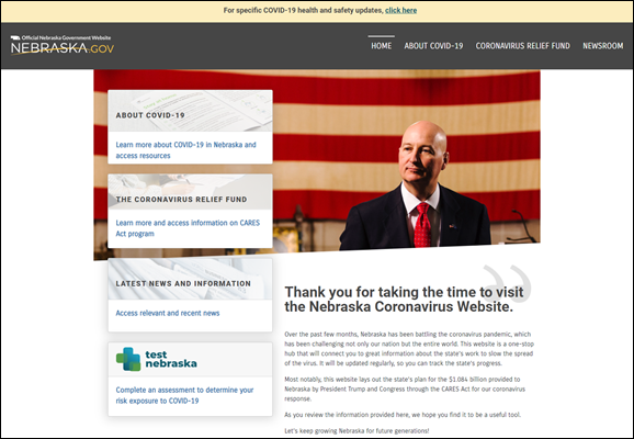 Gov. Ricketts Unveils Coronavirus Information Website