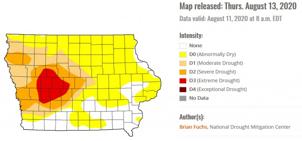 ISU Extension on D3 Drought in Iowa