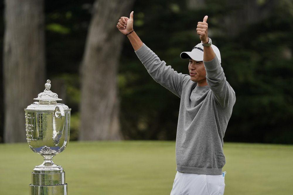 Morikawa quickly goes from college grad to major champion
