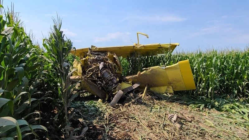 Crop Duster Hits Power Line and Crashes North of Scottsbluff