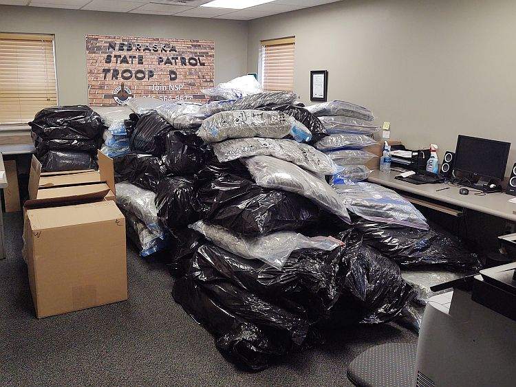 Troopers Find Nearly 2,300 LBs of Marijuana during Motorist Assist