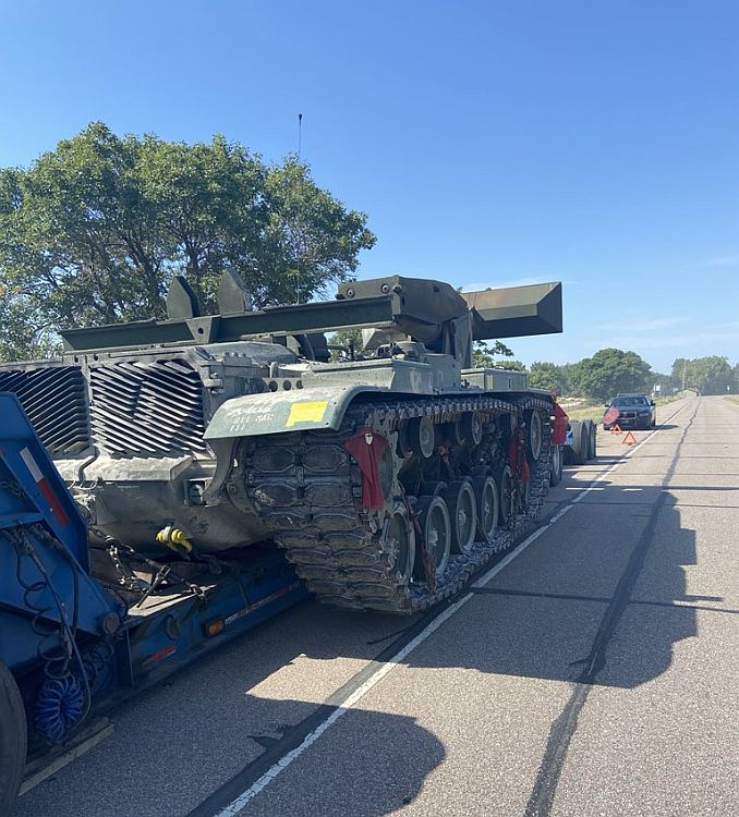 Troopers working to return abandoned Military Vehicle