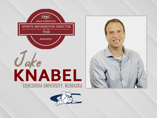 Jake Knabel Honored as GPAC Sports Information Director of the Year