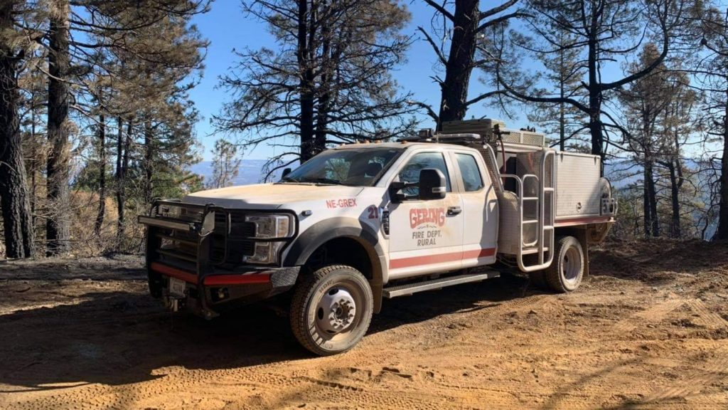 Gering Fire Crew in Colorado Fighting Grizzly Creek Fire near Glenwood Springs, CO