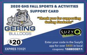 GHS Athletics Announces New Partnership for Discount Card Fundraiser