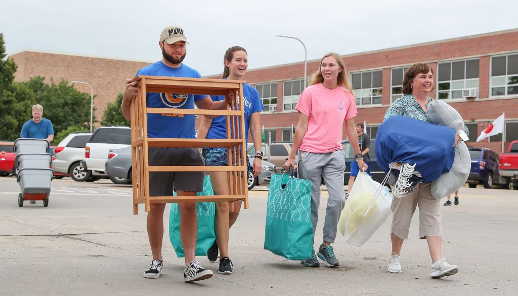 Safety, Social Distancing Emphasized During UNK Move-In.