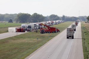 Interstate temporarily closed in Dawson County Monday afternoon