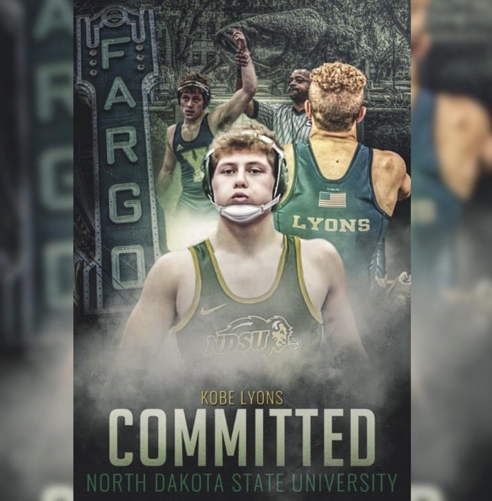 York's Kobe Lyons heading to Fargo to continue wrestling career