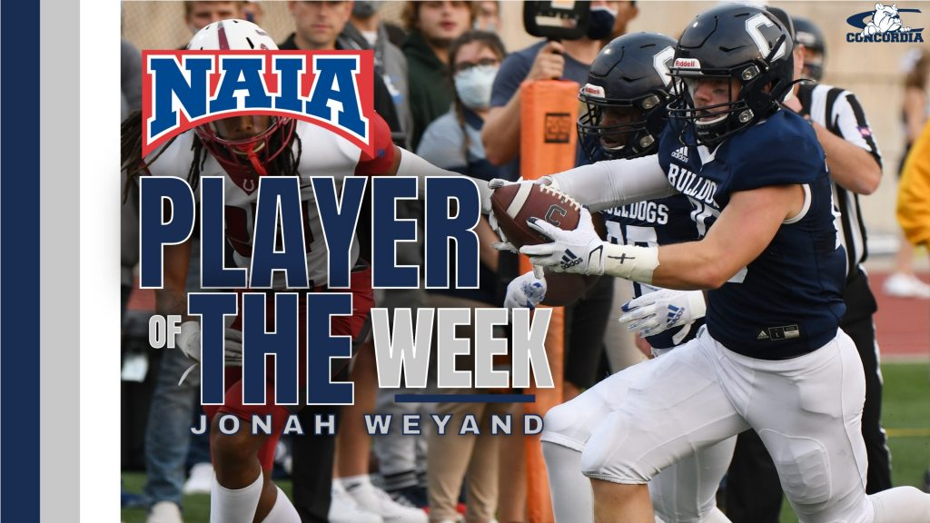 Conocordia's Weyand Named NAIA Offensive Player of the Week