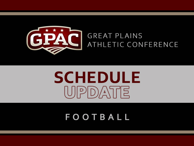 GPAC announces football schedule change