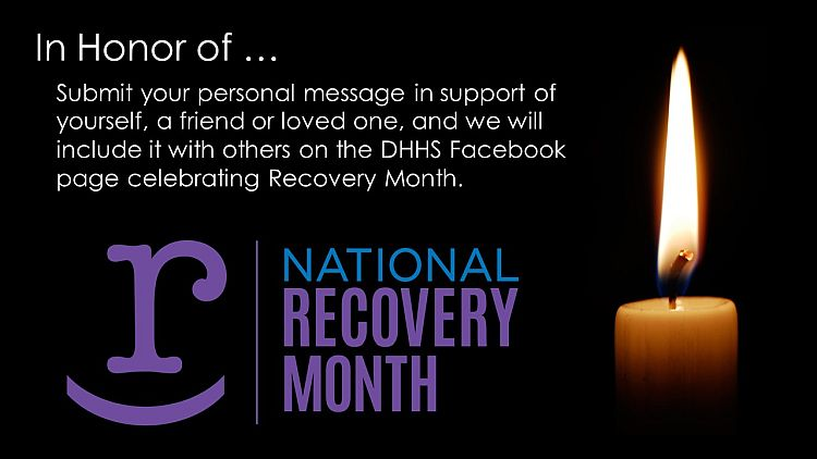 DHHS offers sources of help during Recovery Month